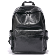 Fashion PU Laptop Hiking Bag College high-end custom leather backpack