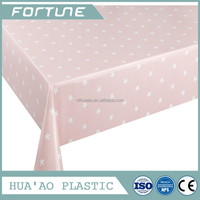 2016 Hot sale twinkle star pvc Tablecloth Dining Plastic Table Cover