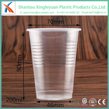 Wholesale high quality clear pp disposable plastic water cup