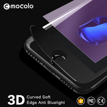 Hot Selling mobile phone protectors best buy Soft Bumper Full Cover 3D Curved Anti-Blue Tempered Glass Protector for Iphone