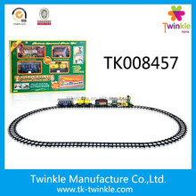 Twinkle kids toys light up music smoking electric bo train sets