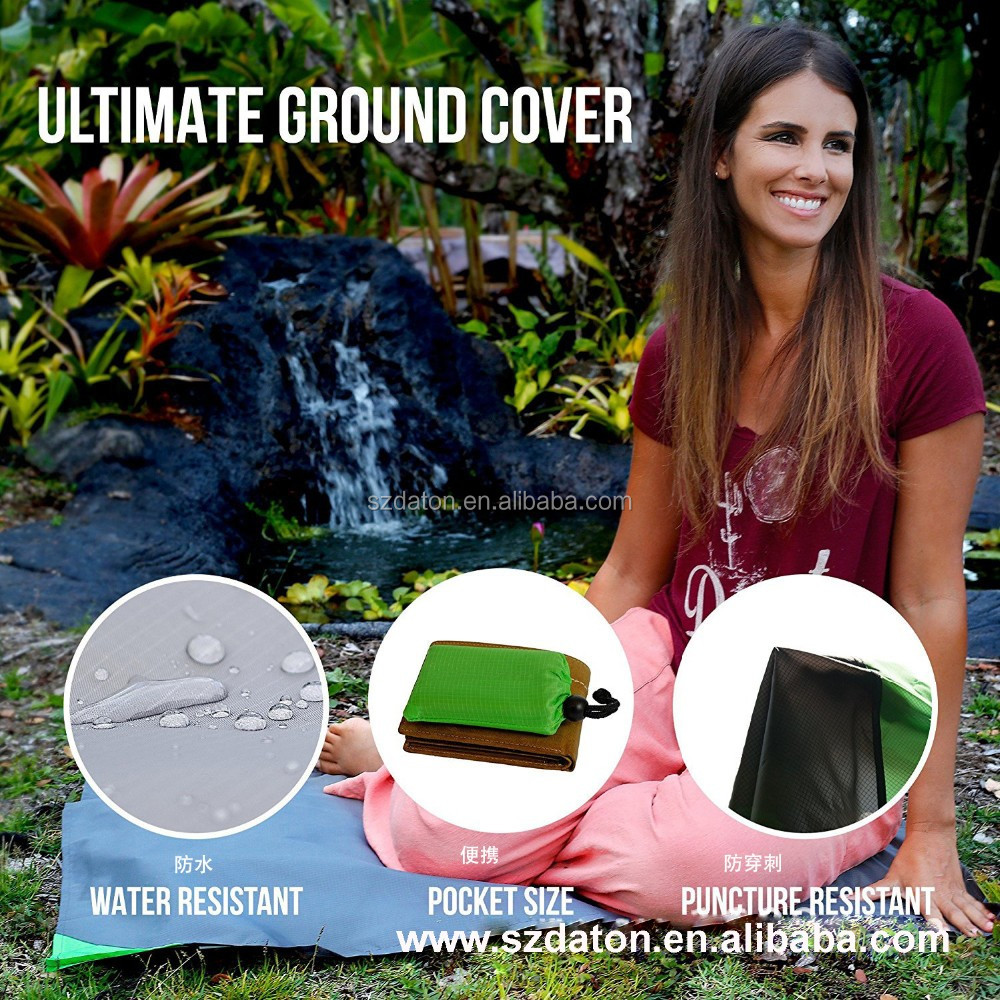 Waterproof Sandproof Mat Portable Compact Pocket Beach Picnic Blanket waterproof picnic blanket picnic blanket