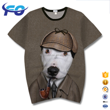 Wholesale Custom Face Sublimation Man Animal 3D Lenticular Printing T-Shirt