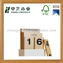 Handmade new product 2015 Wooden perpetual cute desk calendar