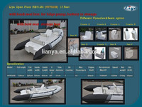 new model Liya 5.2m rigid inflatable for 10 seats rib boat