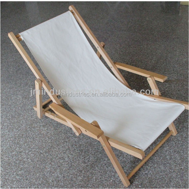 Wooden beach folding chair