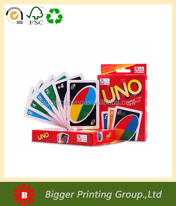 China Customized Uno Cards Printing with Boxes