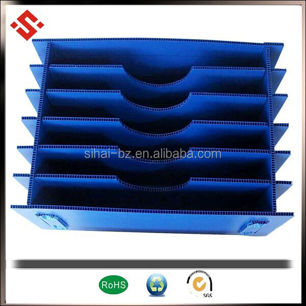 High quality  Hollow Sheet Containers  with partition and dividers