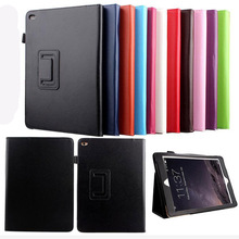 For iPad Air 2 Case Auto Sleep /Wake Up Flip Litchi PU Leather Cover