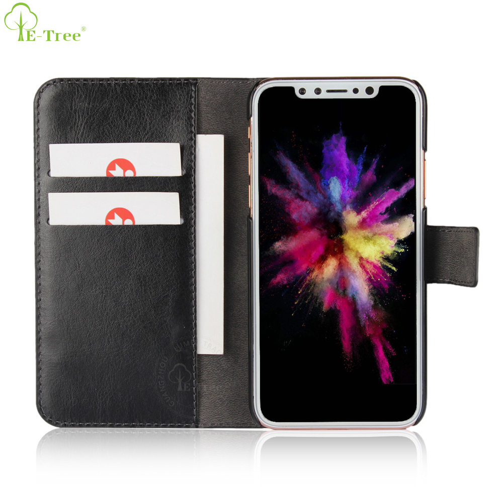 Standing Function Card Holder Designer Flip Cover Leather Phone Case For iPhone X Accessries