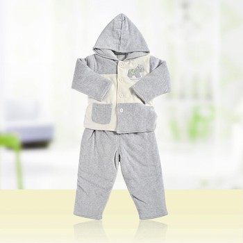 Warm Knitted Organic Toddlers Clothes Bodysuit Baby Clothing Set