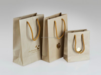 Paper bag with logo gold stamp