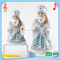 High quality singing music christmas dolls for kids santa snow girl Gift