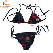 Custom 2016 simple style sublimation printing women bikini