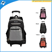 Kids cheap trolley polyester school bags for boys and girls