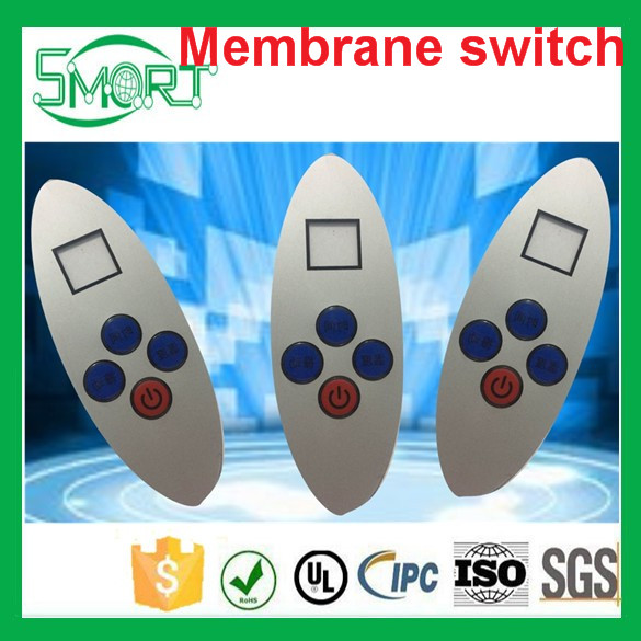 Smart Electronics custom made low price panel switches keyboard factory metal dome slim keypad microwave oven membrane switch
