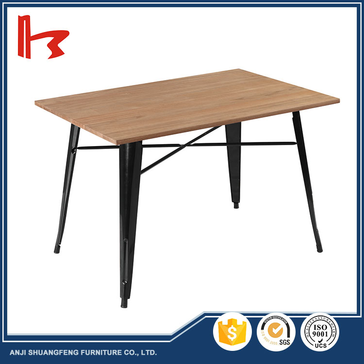 Wholesale popular classic design malaysia Metal base table dinner table restaurant dining table