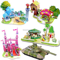 Wholesale high quality handmade children 3d jigsaw puzzle
