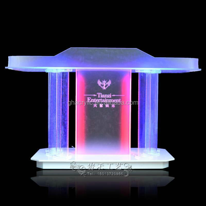 Modern podium design with led,large size acrylic lectern podium