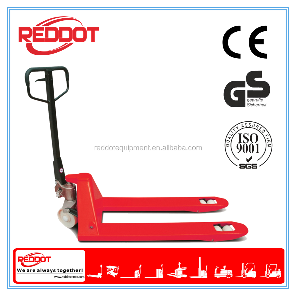 2.5Ton hydraulic hand pallet truck with AC pump and low price in China
