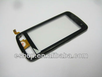 Touch screen digitizer with frame for Nokia C6-01 Black