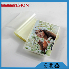 Yesion 2015 New Product Best Quality Wedding Hot Photo Laminating/ Lamination Film Puch For Covering Photo Paper