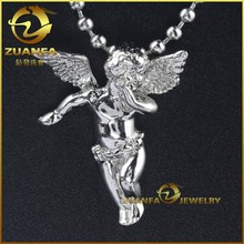 little silver angels silver cupid pendant cupid angle piece necklace