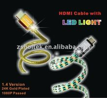 High speed HDMI cable for 1080P, 3D, with Ethernet, ATC test, UL, CE