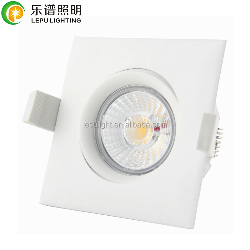 Gyro tilt dimmable 9watt square led downlight with driver hot sale Nordic market with Nemko certificate AcTEC driver