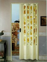 plastic accordion door of flower glass series