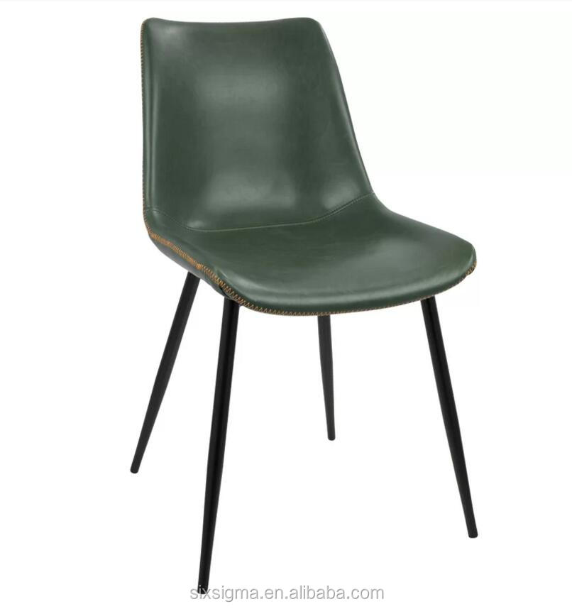 Euro Style Cinzia Leatherette Side Chair with Chromed Base