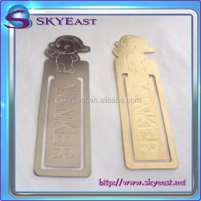 Promotional Engraved Logo and Pattern Stainless Steel Bookmark