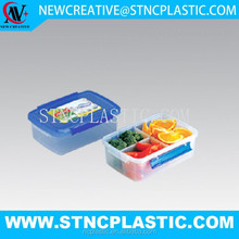 Rectangular Water Tight Food Container with 3 Removable Divider cups