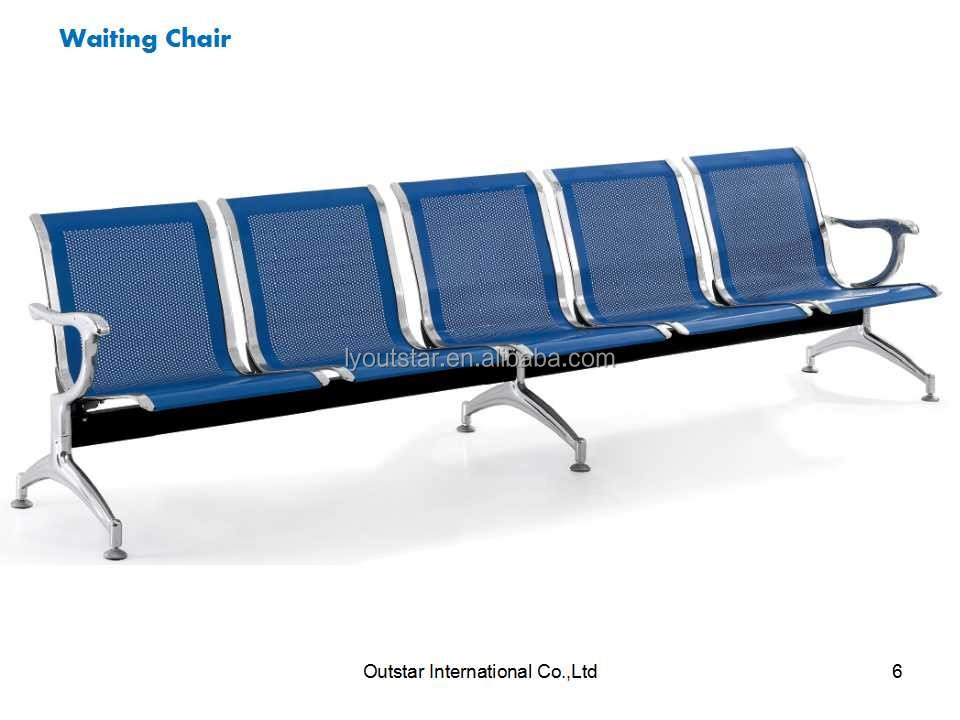 KD Structure Nolyurethane Airport Public Five Seats Waiting Lounge Chair