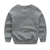 Fashionable warm cotton grey children's winter long tops