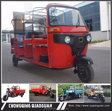 Export Hot sale tuktuk 2 3 rows 175cc 200cc passenger tricycle for 4 5 6 passengers