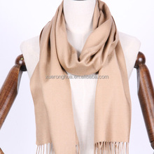 100% cashmere pashmina thin scarf in solid color for fall and winter