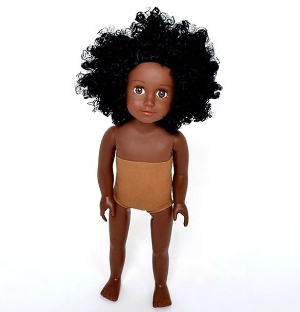 Vinyl 18 inch African American black girl <strong>dolls</strong> fashion <strong>dolls</strong>