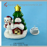 POLAR BEAR AND HOUSE CHRISTMAS TREE DECORATRION lighter