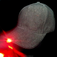 100% cotton custom logo for cowboy material LED baseball cap made in china