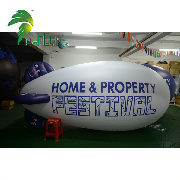 Custom Made Inflatable Helium Blimp , LED Light Blimp Balloon for Promotion