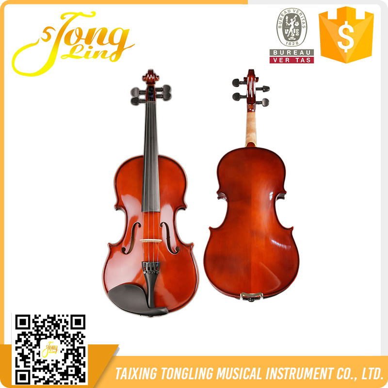 Inlaid Violin For Beginner With BV Certificate Violin Cases For Sale