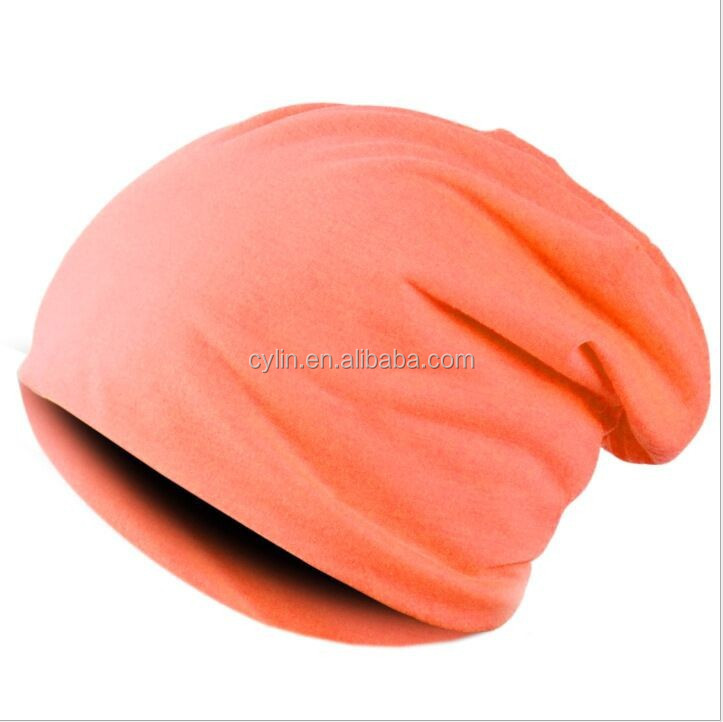 Candy color male lady sleeve head hat mannequin head hat