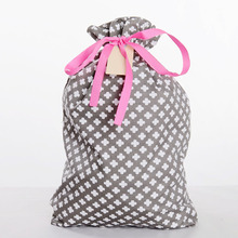 Custom Design Cotton Drawstring Spritz Gift Shop Name Ideas Bag with Bow