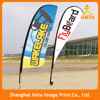 colorful Logo Printed Beach Chair Flag feather flag customized
