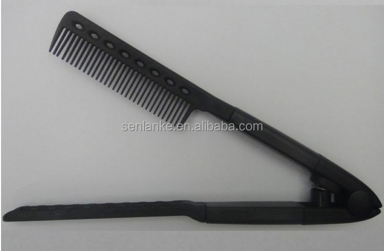 Professional foldable plastic hair salon straightening comb magic hair comb