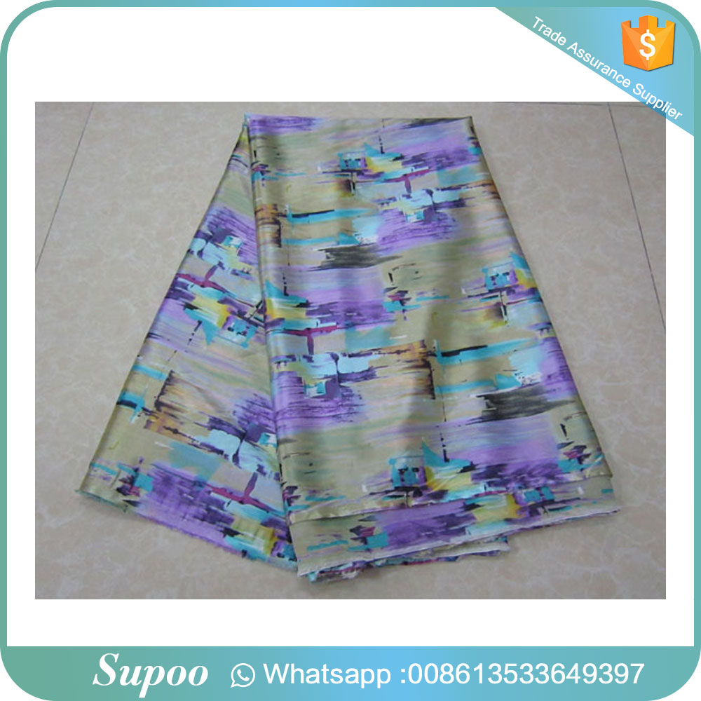 High quality iridescent silk chiffon taffeta silk satin fabric