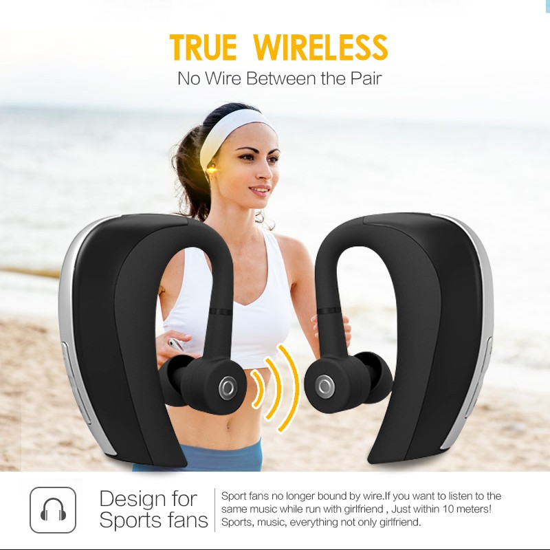 Handsfree stereo bluetooth headset with microphone