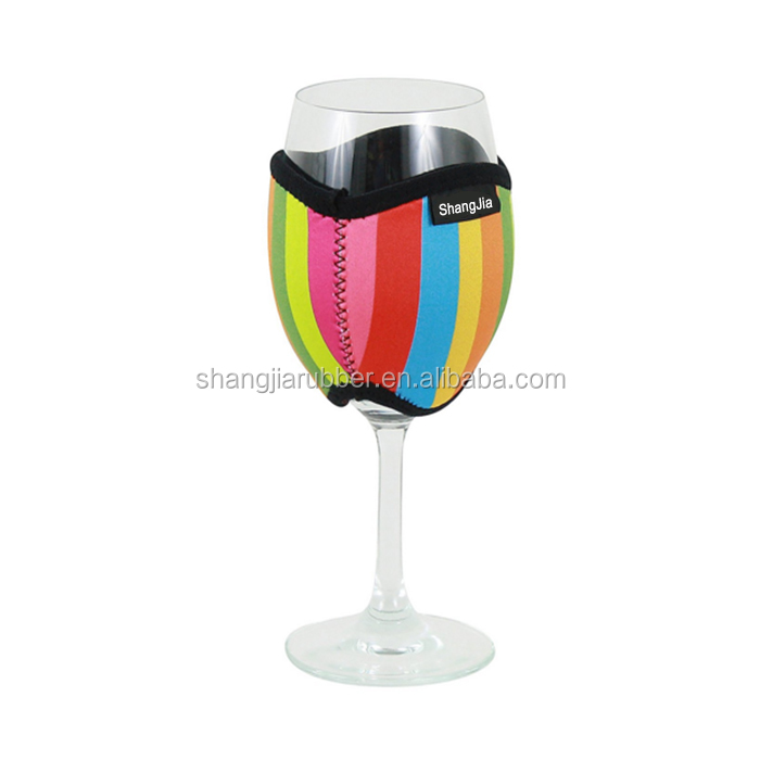 Good quality insulated 3mm neoprene wine glass holder/ drink sleeve