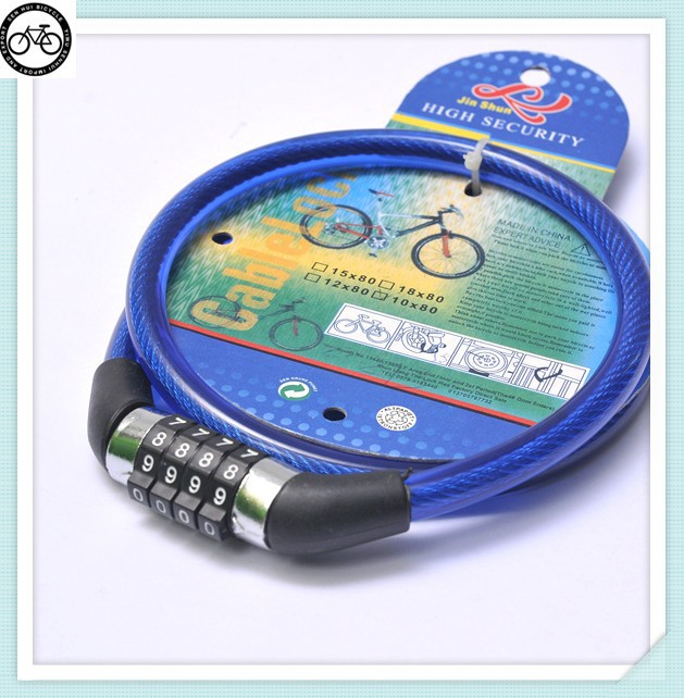 Electronic security bicycle lock adjust 4 numbers locks for cycling waterproof